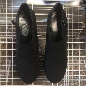 Impo Black High Heels Bootie OMNI Sz 7 Zipper